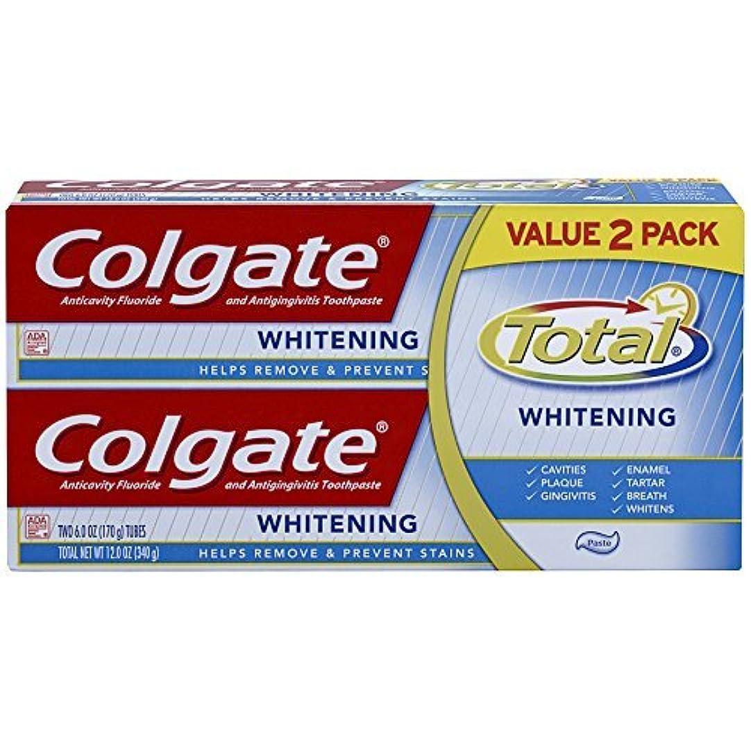 開発拒絶差し控えるColgate Total Whitening Toothpaste Twin Pack - 6 ounce [並行輸入品]