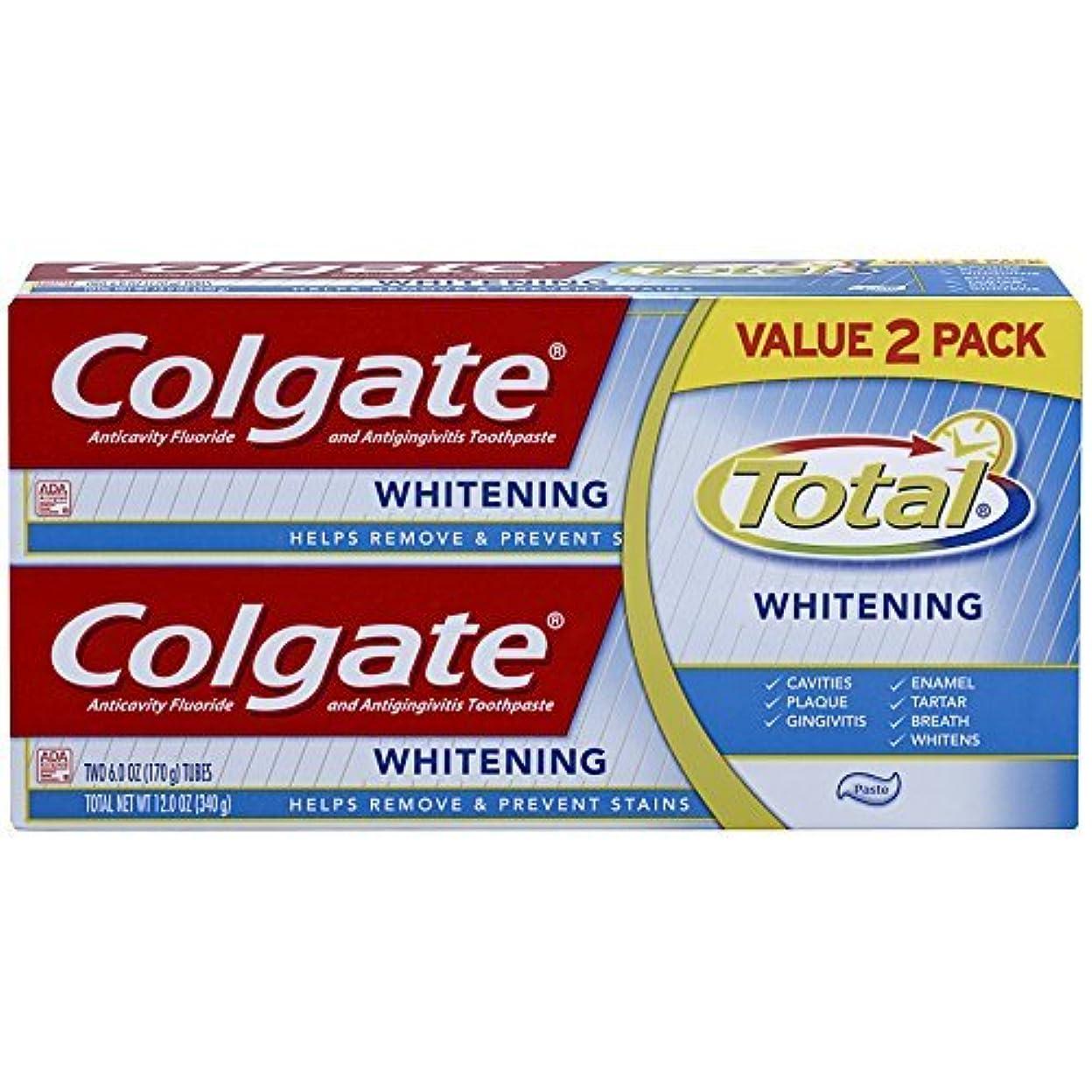 回想コンベンションリベラルColgate Total Whitening Toothpaste Twin Pack - 6 ounce [並行輸入品]
