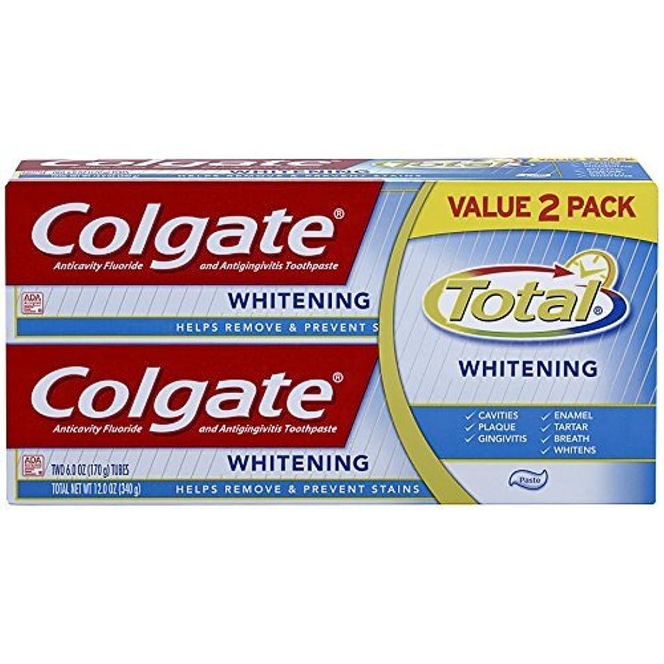 知恵自慢イタリアのColgate Total Whitening Toothpaste Twin Pack - 6 ounce [並行輸入品]