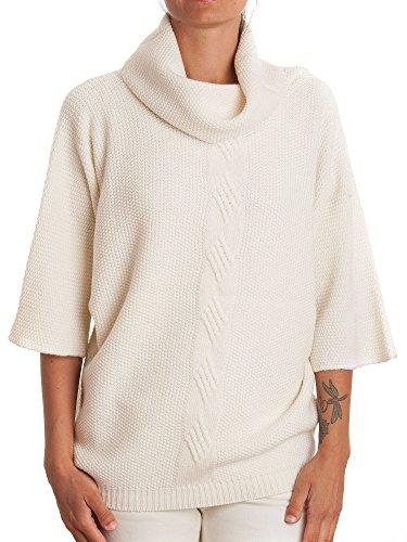 DALLE PIANE CASHMERE - Poncho tressé en cachemire mélange - Femme, Couleur: Blanc, Taille unique