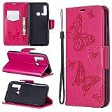 Suhctup - Funda de piel sintética con tapa y tarjetero para Huawei Honor 20S (cierre magnético), color oro rosa