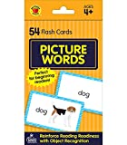Carson Dellosa - Picture Words Flash Cards - Beginning Readers, Phonics, Early Learning Cards, Color Illustrations, Recognition and Rhymes, Ages 4+