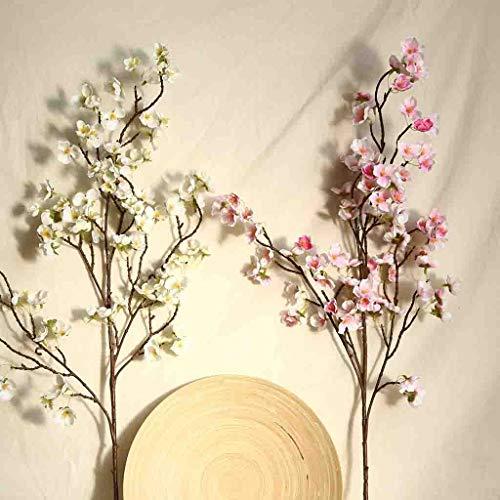Deng Xuna Kunstblumen Cherry Blossom Kirschblüte Künstliche Blumen Plastikblumen Kunstpflanze für Balkon Garten Außenbereich Zuhause Büro Vase Hochzeit Party Dekoration Blumendekor, 97 cm (A) - 6