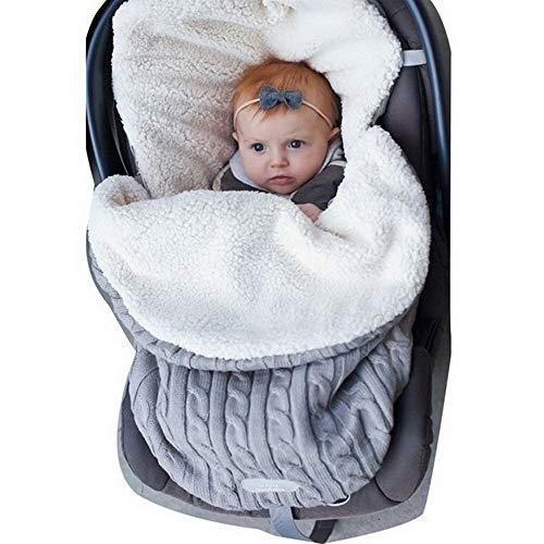 Manta Swaddle Envoltura Bebé Recién Nacido Nibesser Manta de Punto Grueso Suave y Cálida Manta Saco de Dormir Envoltura de Cochecito para Niños Niño 0 a 12 Meses Bebé Unisex