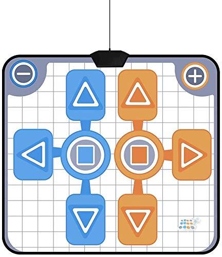 LLDKA Tanzmatte für Zwei, Anti-Rutsch-Pads für Spielkonsole Spiel Zwei Spieler