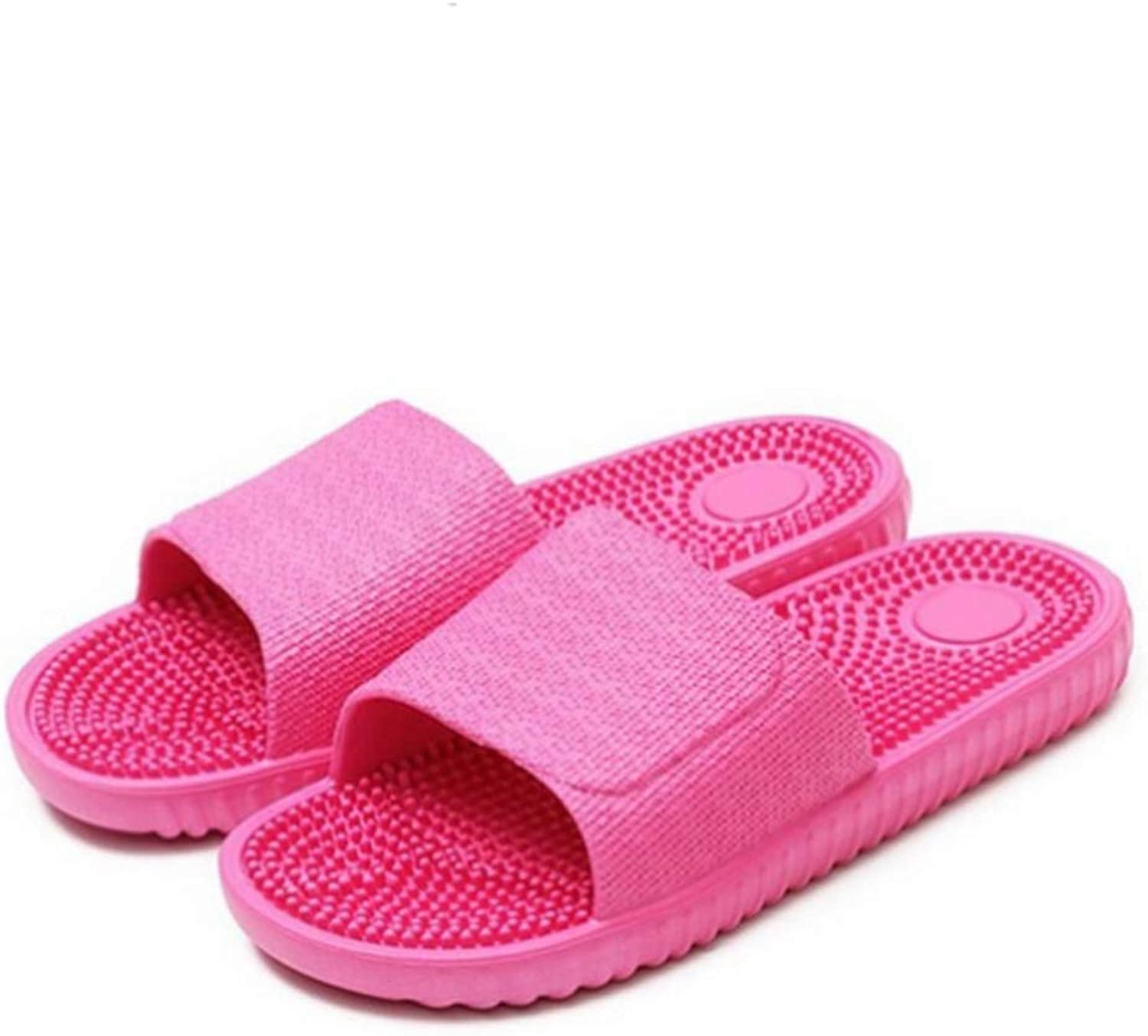 Women's Bathroom Slippers Candy color Indoor Massage Lightweight Solid Home Non-Slip Beach shoes