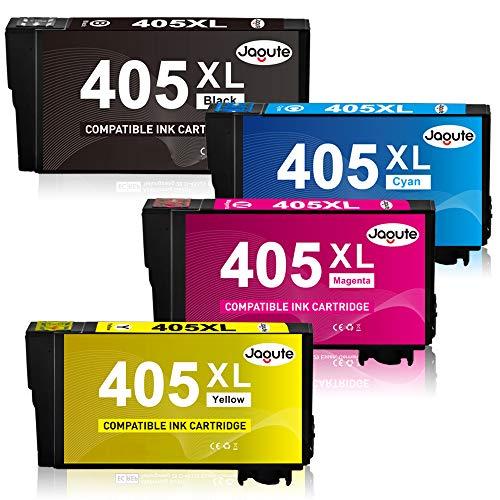 Jagute 405XL Compatibile Cartucce d'inchiostro per Epson 405 405XL per Epson WorkForce Pro WF-4830DTWF WF-3825DWF WF-4820DWF WF-3640DTWF WF-7840DTWF WF-7830DTWF, 4-Pacco