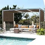 El Panel De La Pantalla De Protección Solar, 90% Resistente A Rayos UV Pantallas Solares Exteriores, Valla Privacidad Ojales Plantas/Pérgola/Patio/Césped/Jardín/Invernadero/Cochera/Porche