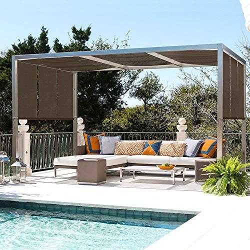El Panel De La Pantalla De Protección Solar, 90% Resistente A Rayos UV Pantallas Solares Exteriores, Valla Privacidad Ojales Plantas/Pérgola/Patio/Césped/Jardín/Invernadero/Cochera/Porche,10'x13'
