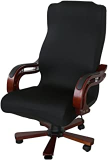 HTDirect - Funda giratoria para silla de ordenador, diseño de silla de oficina, color negro