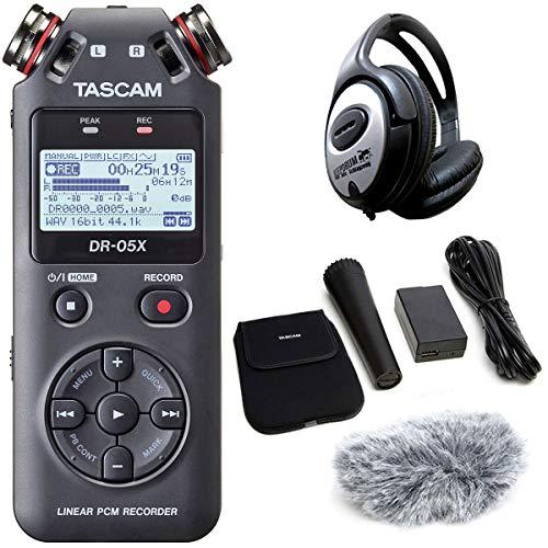 Tascam DR-05X Audio-Recorder + AK-DR11GMK2 Zubehör Set + keepdrum Kopfhörer