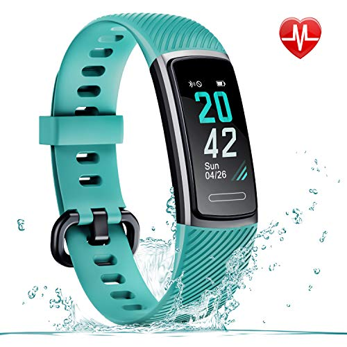 LETSCOM Fitness Tracker, Activity Tracker Smart Watch with Call & SMS Reminder, IP68 Water Resistant Color Screen Step Counting Sleep Tracking Calorie Counter Pedometer Wrist Band