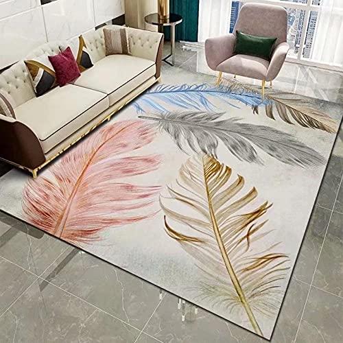 KaO0YaN,Alfombra de área Persa, para Sala de Estar Alfombra de diseño Moderno, Alfombra marroquí, para Entrada, Patio(Blanco,120x160cm)