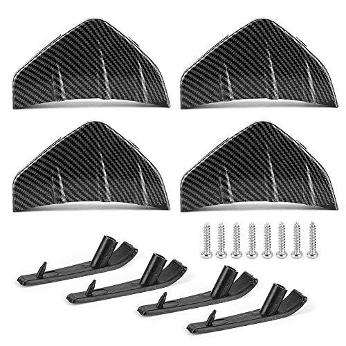 DWWSP 4 unids coche parachoques trasero Lip Spoiler aletas difusor protector fibra carbono estilo universal piezas