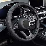 KAFEEK Steering Wheel Cover, Universal 15 inch, Microfiber...
