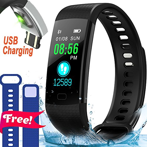 Fitness Tracker-Pedometer Smart Watch with Heart Rate Blood Pressure Monitor IP68 Waterproof Activity Tracker Wristband Calorie 12 Sports Mode Watch for Men Women Xmas Holiday Birthday Gifts