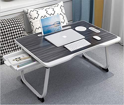 Laptop Desk - Laptop Bed Table, XXL Folding Laptop Desk, Portable Lap Standing Desk For Bed & Sofa, Bed Portable Table. Multifunctional Laptop Stand Desk, Lap Desk, Laptop Tray. (Black & White)