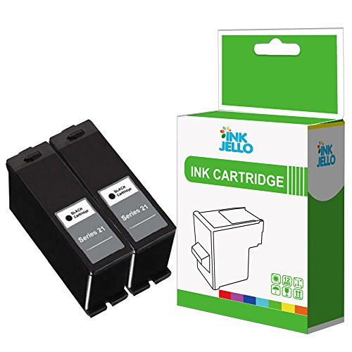 InkJello Compatible Ink Cartridge Replacement for Dell V313 V313W V515W P513W P713W V715W (Black, 2-Pack)