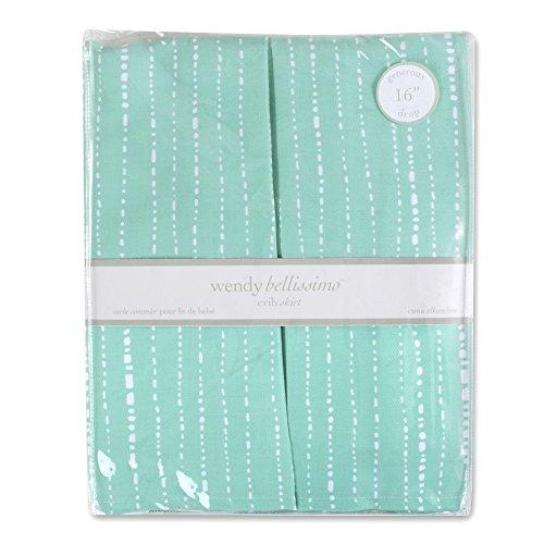 Wendy Bellissimo Crib Skirt (Teal/White)