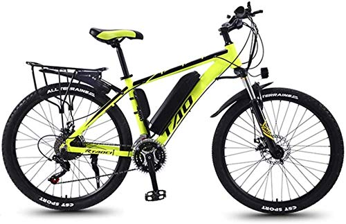 LZMX 350W Aluminum Alloy Mountain Electric Bicycle, 26 inches Equipped with a Removable 36V Lithium Battery with Automatic Power-Off Braking and 3 Working Modes, Adult Riding Exercise Bike