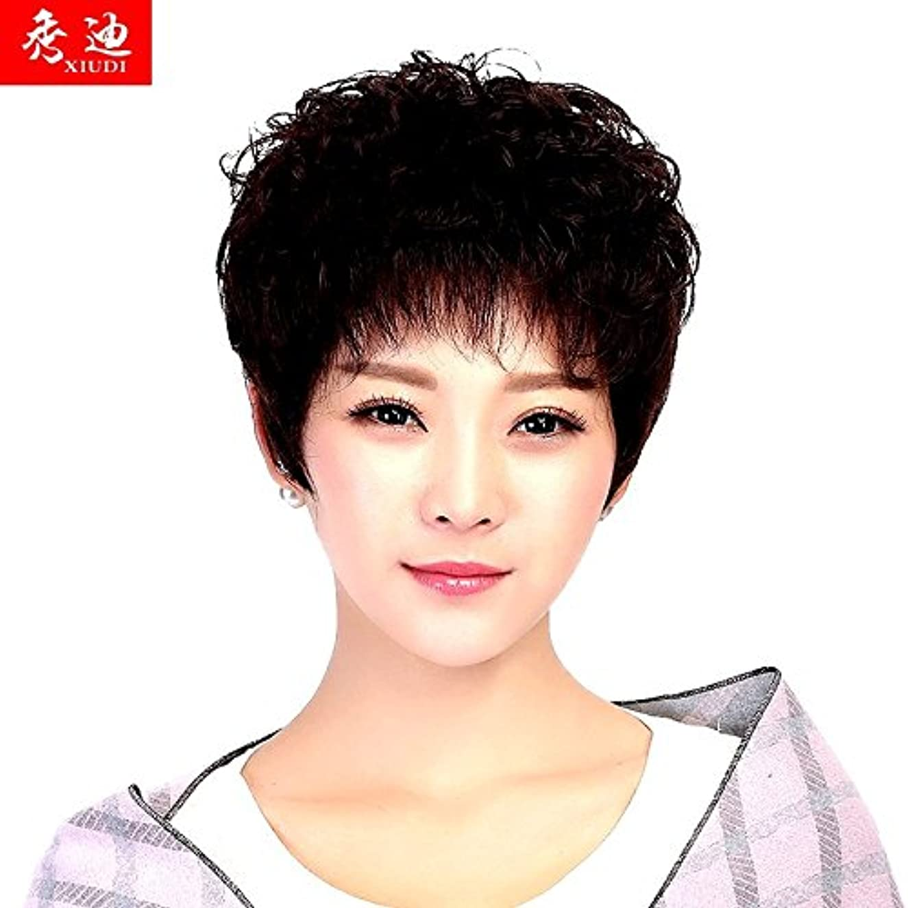Chemo loose breathable short curly hair wig women girls female short hair show Di Ms. middle-aged mother wig fashion style Peng