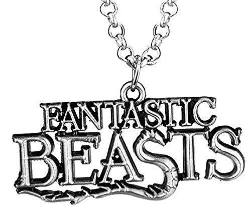 Legisdream Anhänger-Halskette Fantastische Tiere Geschrieben von Film Fantastische Tierwesen und wo sie zu Finden sind Farbe Silber Schmuck-Geschenk-Idee Freundschaft Liebe Fest
