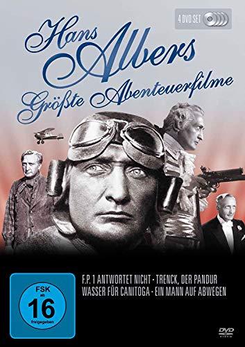 HANS ALBERS ABENTEUERFILME – F.P.1 antwortet nicht / Wasser für Canitoga / Trenck, der Pandur / Ein Mann auf Abwegen [4 DVD-Box