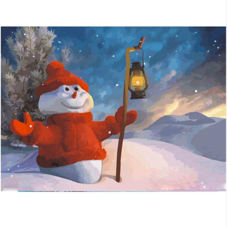 CZYYOU DIY Digital Malen Nach Zahlen Weihnachten Schneemann Ölgemälde Wandbild Kits Färbung Wandkunst Bild Geschenk - Ohne Rahmen - 40x50cm B07PQ6XH3J | Heißer Verkauf
