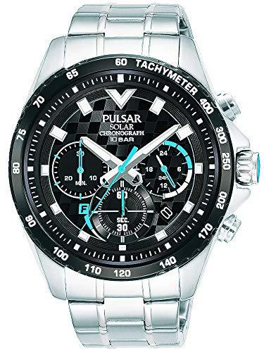 【セット商品】[パルサー] セイコー SEIKO パルサー PULSAR ソーラークロノグラフ腕時計 PZ5105X1 &マイクロファイバークロス 13×13cm付き[並行輸入品]