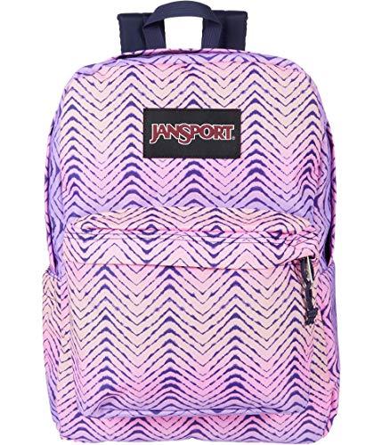 JanSport Superbreak Plus Backpack - School, Work, Travel, or Laptop Bookbag with Water Bottle Pocket, Chevron Fade