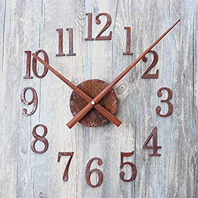 Kamas DIY Retro Clock Saat Wall Clock Reloj Duvar Saati Digital Wall Clocks Horloge Murale Self