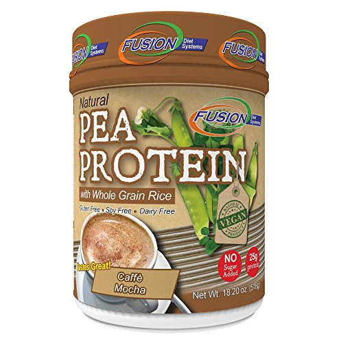 Fusion Plant Based Vegan Protein – Cafe Mocha, Best Pure Raw Complete Sports Performance Meal Replacement Shake, Gluten-Free, Sugar-Free, 12 Servings, By Fusion Diet Systems