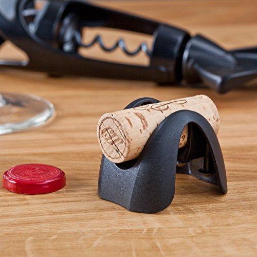 Vacuvin Vacu Vin 68544606 Corta cápsulas 4 Cuchillas, Color Negro, Acero Inoxidable