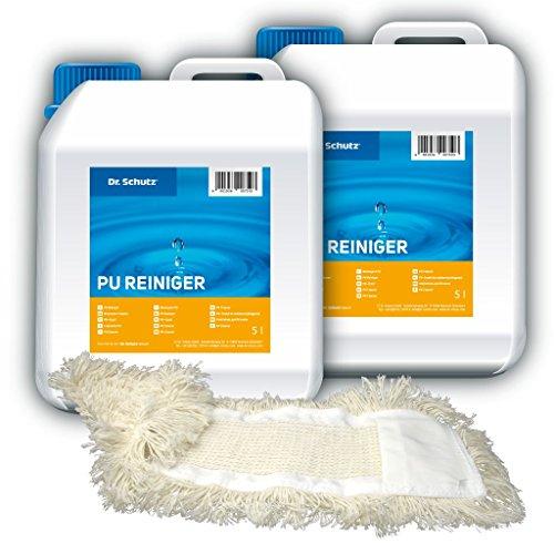 2x Dr. Schutz PU Reiniger 5 Liter inkl. Wischmopp - SET