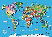 HKH Jigsaw Puzzles 500 Pieces World Map.Intellectual Decompression Fun Family Toys Decoration Wall Gifts