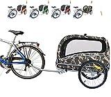 Polironeshop Snoopy - Remorque de vélo pour transporter chien, animal, etc. L Mimétique