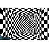 51KhJb0+hkL. SL160  - Tapis 3D en Trompe l'Oeil avec Effet Vortex Spectaculaire (video) - Tapis, Maison, Illusion, Design, Déco, Amazon, 3D