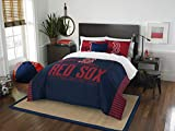 Officially Licensed MLB Boston Red Sox 'Grandslam' Full/Queen Comforter and 2 Sham Set, Multi Color