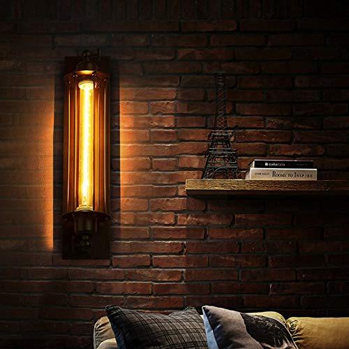 ETbotu Metal Industrial Decor Iluminación Negro Retro Antiguo Plafón Loft Vintage Aplique de pared, Mit Glühbirnen, Sans Ampoules, talla única