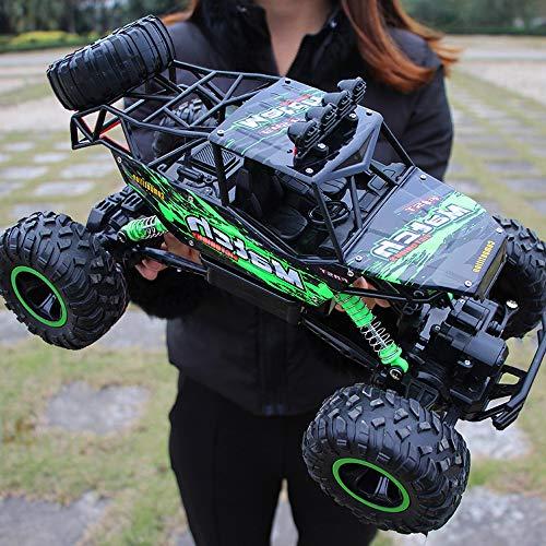 XSLY 37cm 4x4 grande coche que sube de los niños de control remoto de vehículos todo terreno Bigfoot Truck profesional recargable RC modelo de coche de juguete 4WD de alta velocidad que compite con re