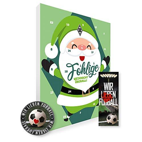 Adventskalender, Weihnachtskalender deines Bundesliga Lieblingsvereins 2019 - Plus gratis Sticker & Lesezeichen Wir Lieben Fußball (Borussia Mönchengladbach Premium)