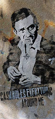 Türposter Jonny Cash Türaufkleber Möbelfolie Graffiti Sänger Legende 1265-86x200cm