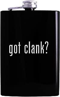 got clank? - 8oz Hip Alcohol Drinking Flask, Black
