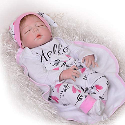 Wiedergeburt Puppe 23 Zoll rot Leder alle Kunststoff recycelt Puppe geschlossen Augen Simulation Baby Kinder Puppe