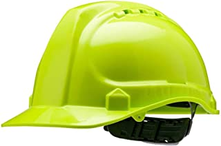 Amston 'All-Day Wear' Hard Hat; Lightweight 'Keep Cool' Vented Safety Helmet Meets ANSI z89.1 Type 1, Class C Standards; Ideal for Construction, Industrial, DIY Projects