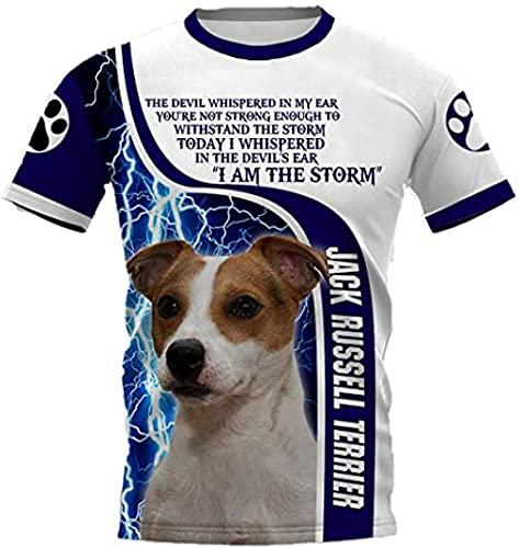 HSBZLH Maglietta Tennis Uomo Magliette Stampate 3D Funny Dog da Donna per Uomo-3Xl