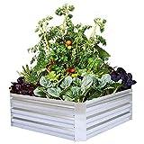 FOYUEE Metal Raised Garden Bed Kit Elevated Planter Box Outdoor Patio...