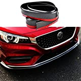 Lip Spoiler Universal Carbon Fiber Black Rubber Side Skirt Front Bumper Protector Guard Scratch-Resistant Car Exterior Accessories Trim Body Kit for Cars(2.5m/8.2ft)