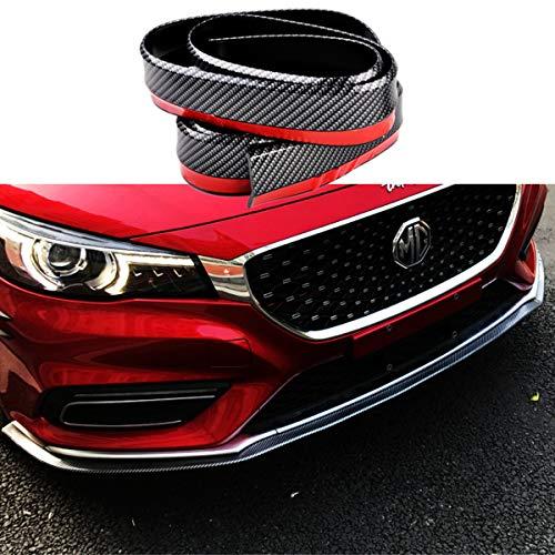 Lip Spoiler Universal Carbon Fiber Black Rubber Side Skirt Front Bumper Protector Guard Scratch-Resistant Car Exterior Accessories Trim Body Kit for Cars(2.5m/8.2ft)