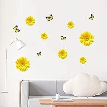 Chrysanthemum Wall Sticker,Uotmiki DIY Art Wall Sticker Mural Decal Bedroom Home Decor (Yellow, 205cm)